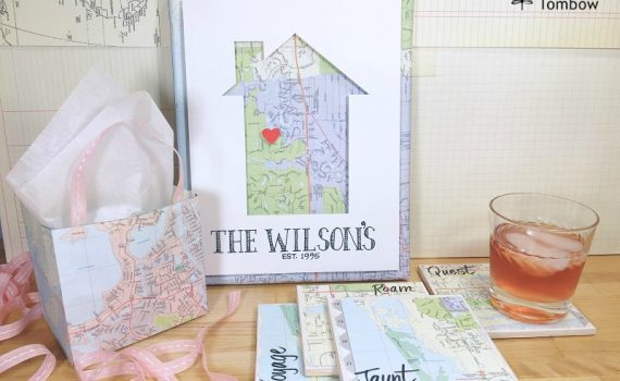 Trio of Upcycled Map Projects by Beth Watson