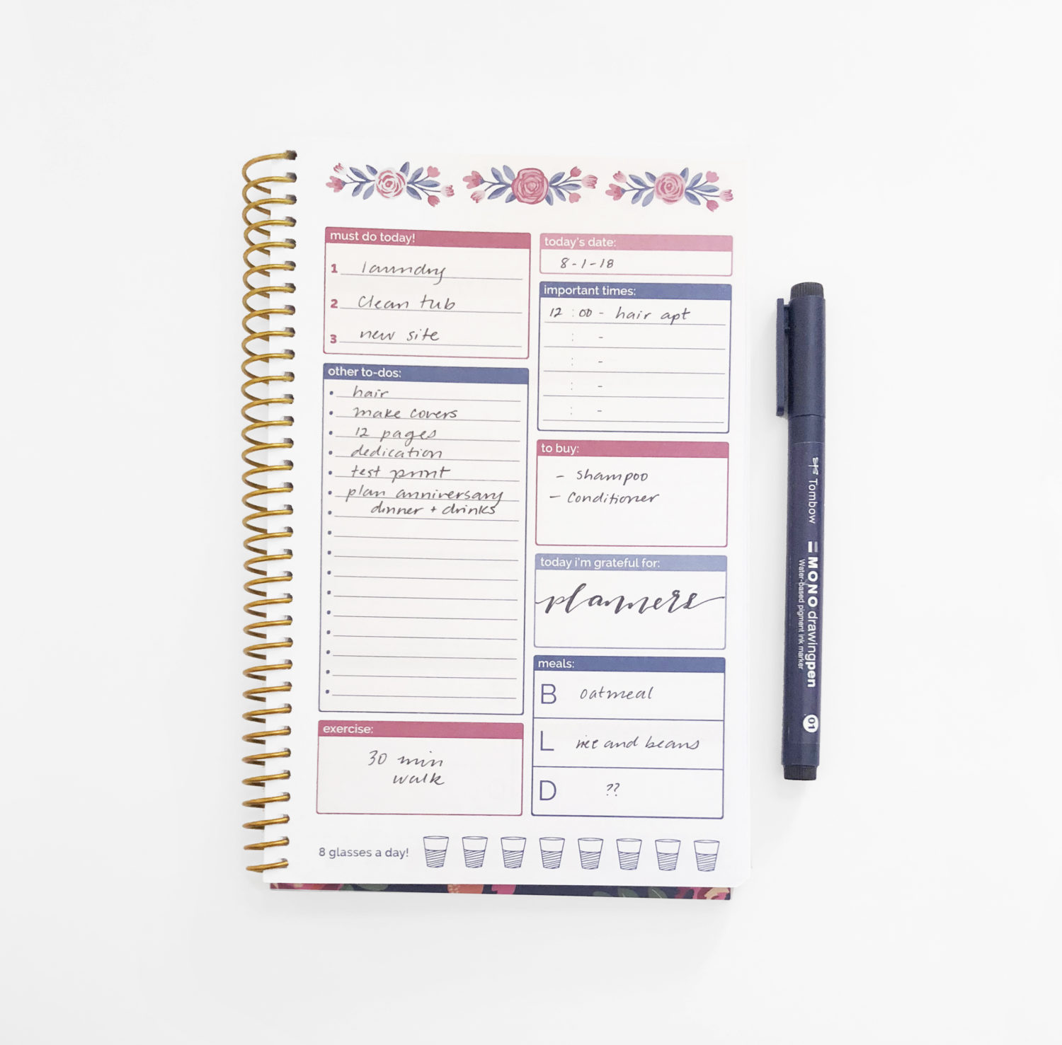 3 ways to organize your life with tombow and bloom daily planners