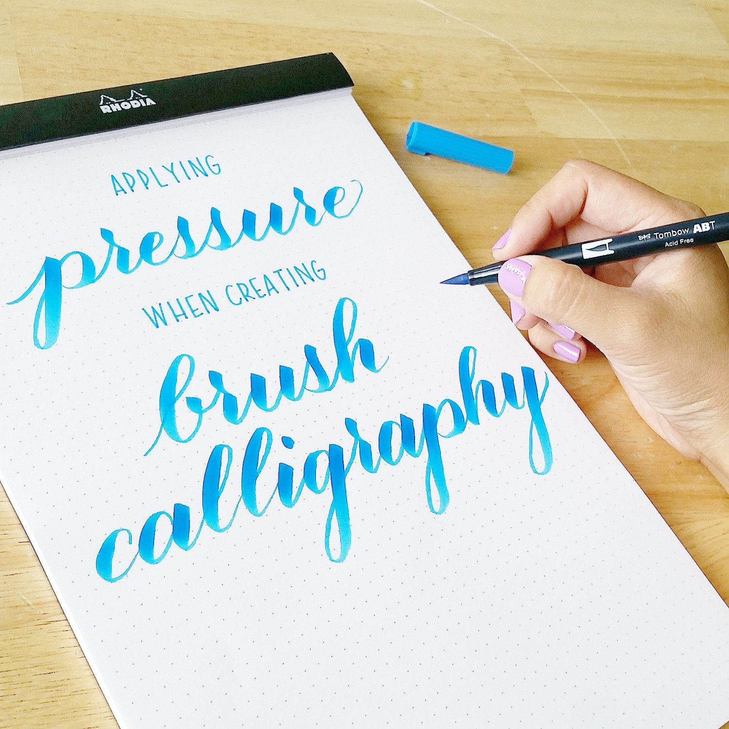 Applying pressure in brush calligraphy with sharisse