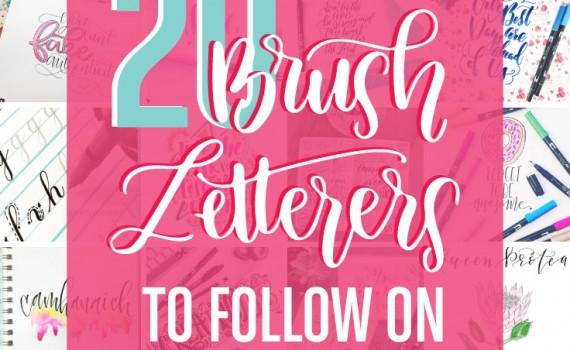 20 Brush Letterers to follow on Instagram