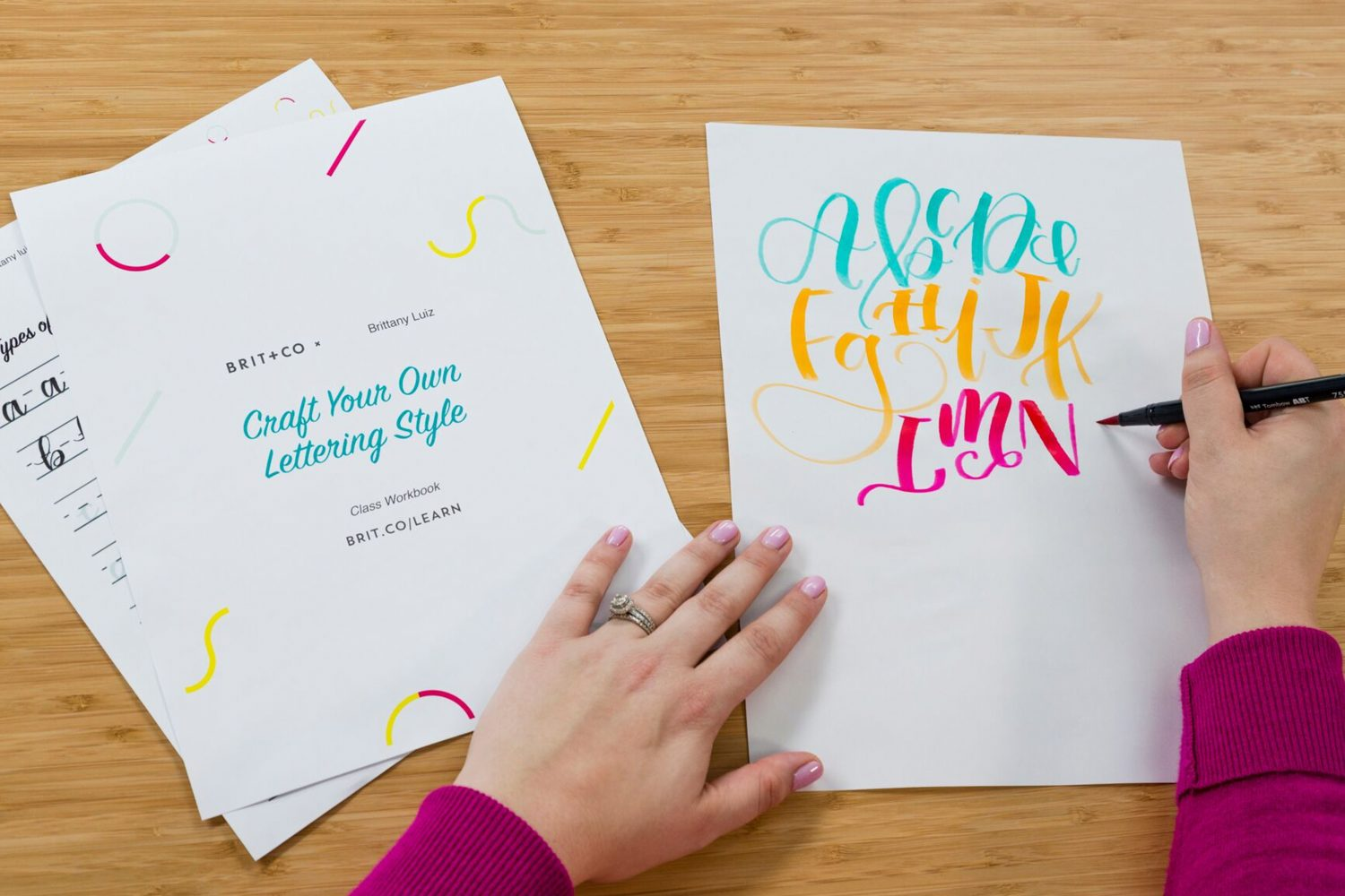 Take our new lettering class on @britandco today and learn how to craft your own lettering style!