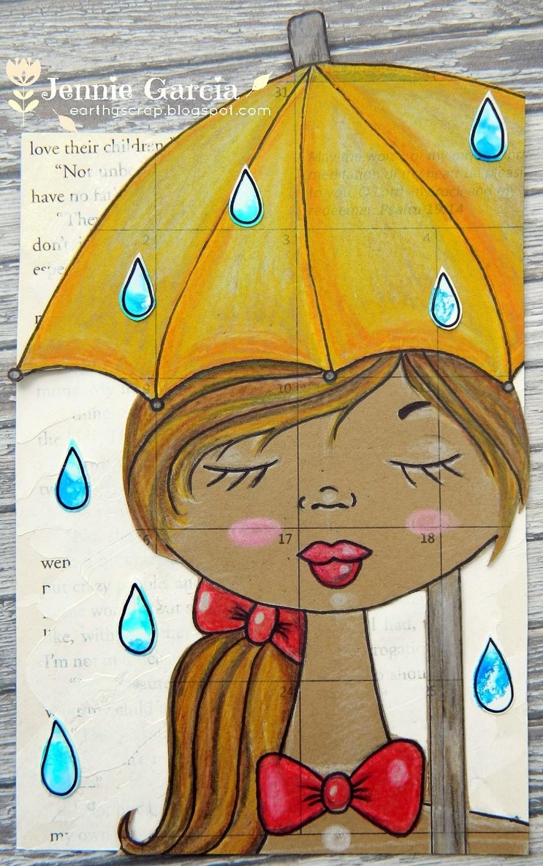 April Showers Postcard