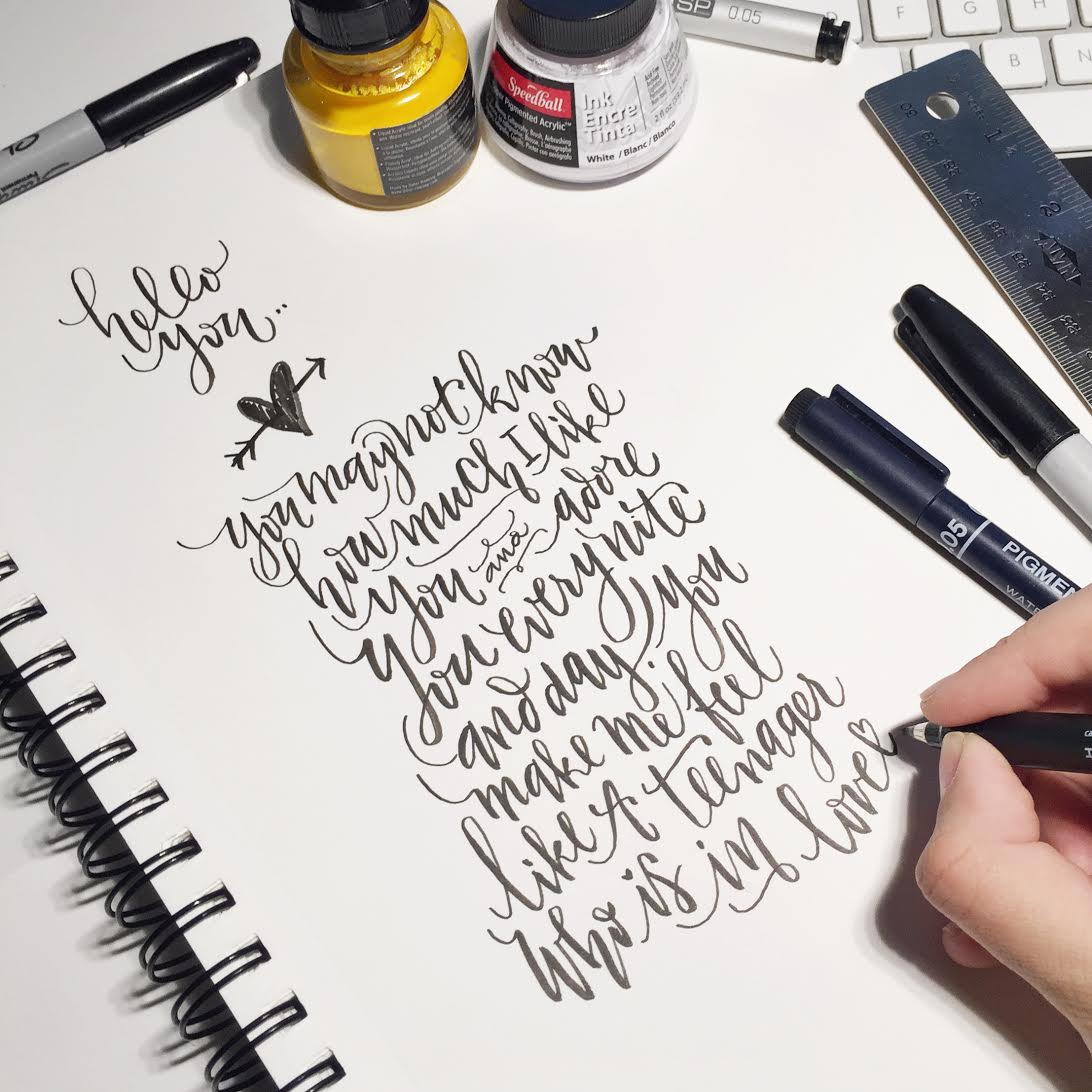 Lettering Week Kick Off With Abby Guempel