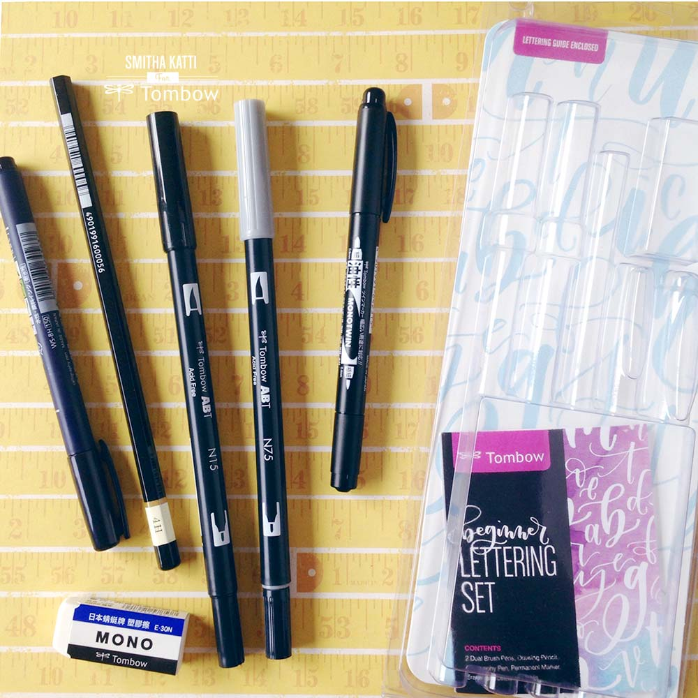 Lettering With The Tombow Beginners Lettering Set Tombow