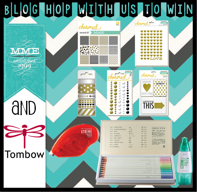 Tombow Blog Hop prize with MME