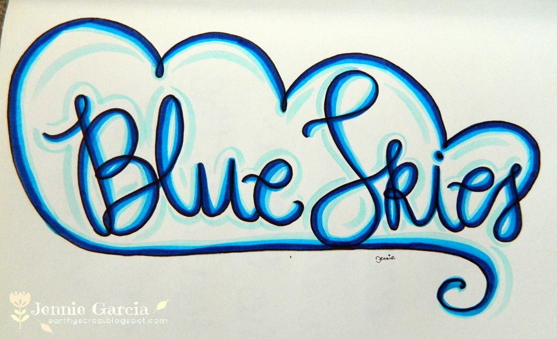 Blue Skies Lettering