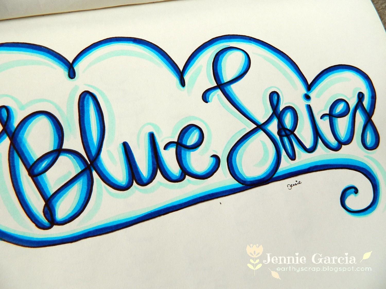Blue Skies Lettering1