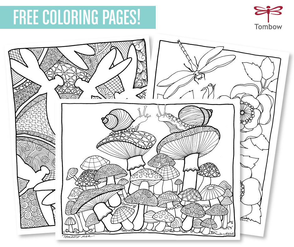 Free Adult Coloring Page Downloads