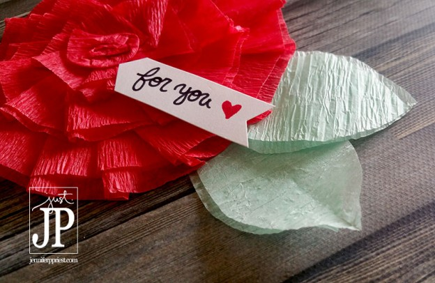 Use a Tombow Dual Brush Pen to add a sentimen to handmade cards, like Jennifer Priest shares in this card tutorial on the Tombow blog.