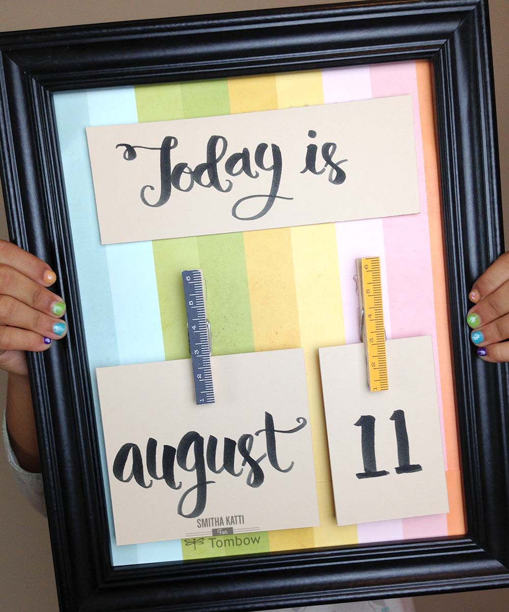 DIY Classroom Calendar By Smitha Katti Tombow USA Blog