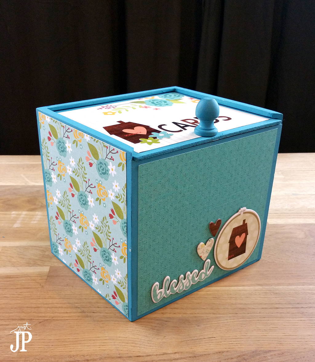 Decorated Card Box Tombow Simple