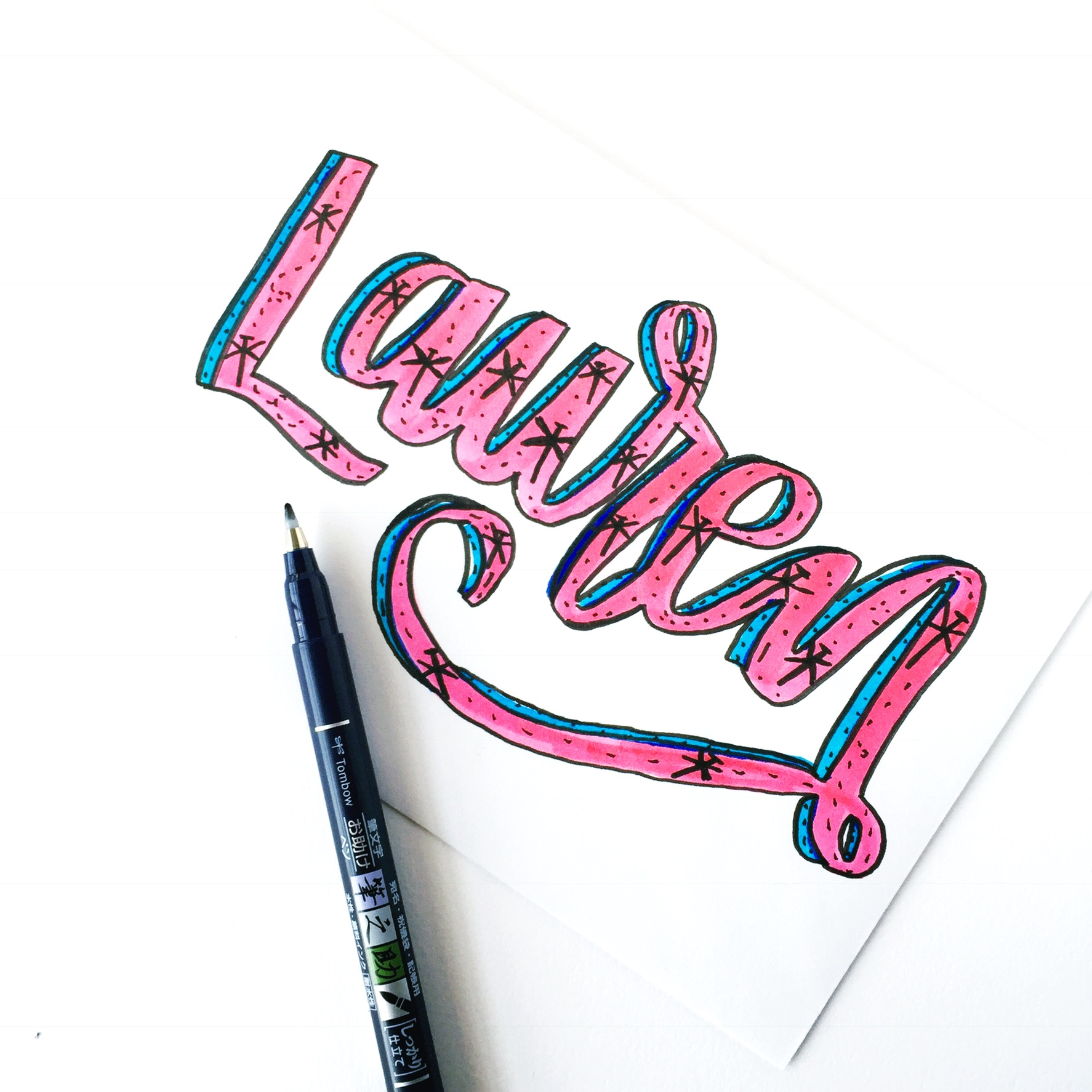 Use TombowUSA Products To Create Fun Lettering Projects Inspired By Dragonflies Renmadecalligraphy Gives