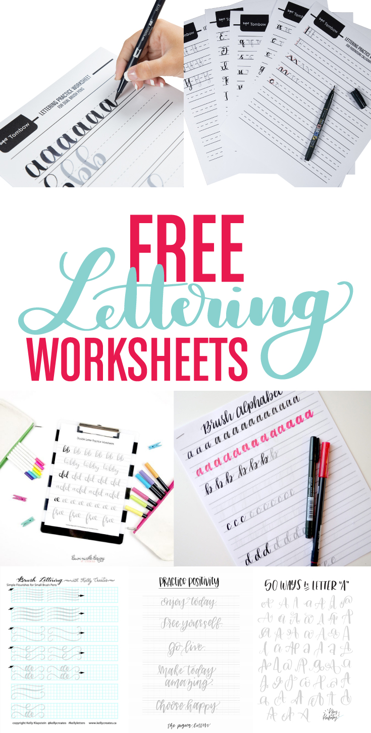 Resources For Free Lettering Worksheets  Tombow Usa Blog
