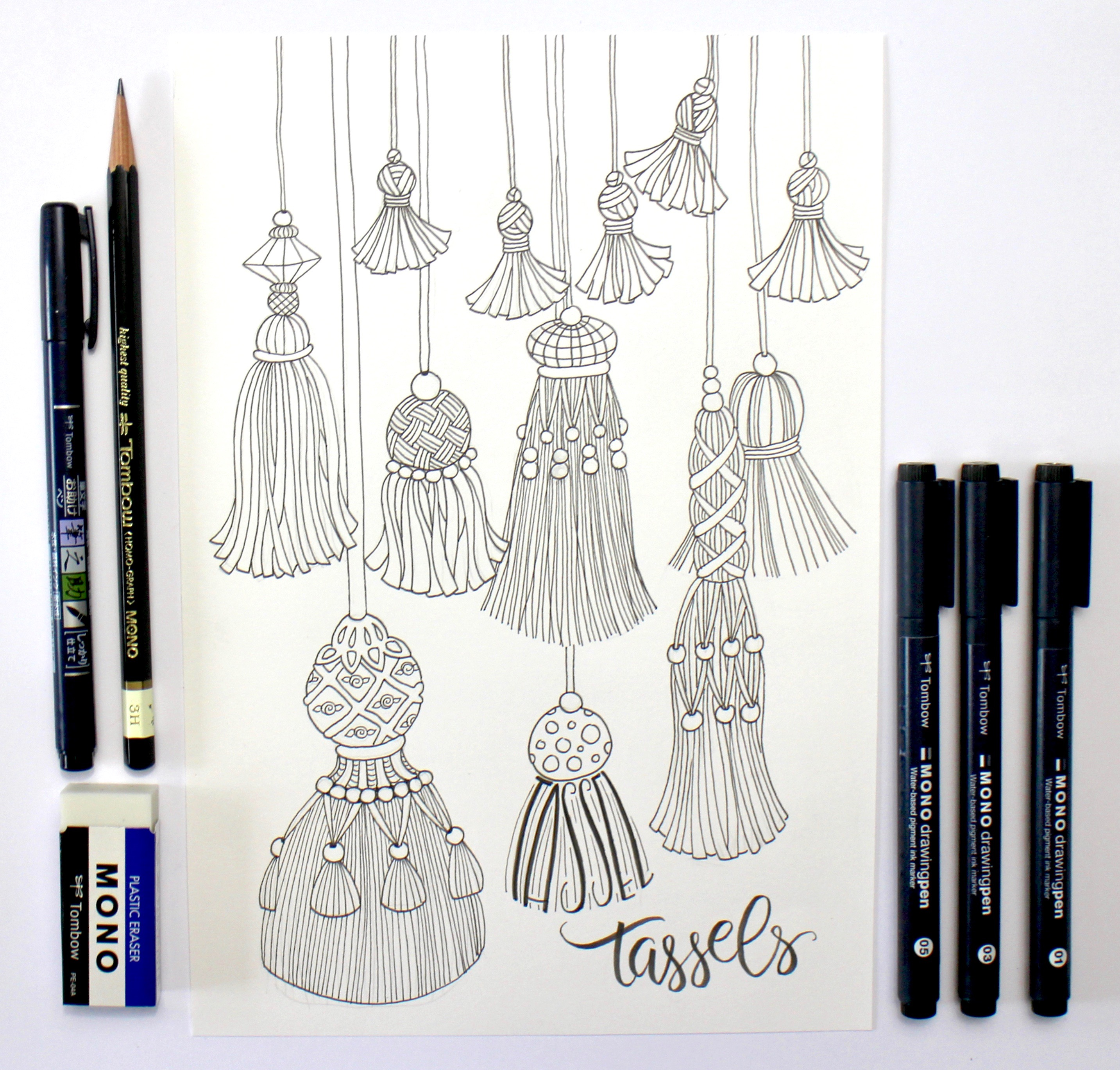 Tombow Products Fringe and Tassels Marie Browning