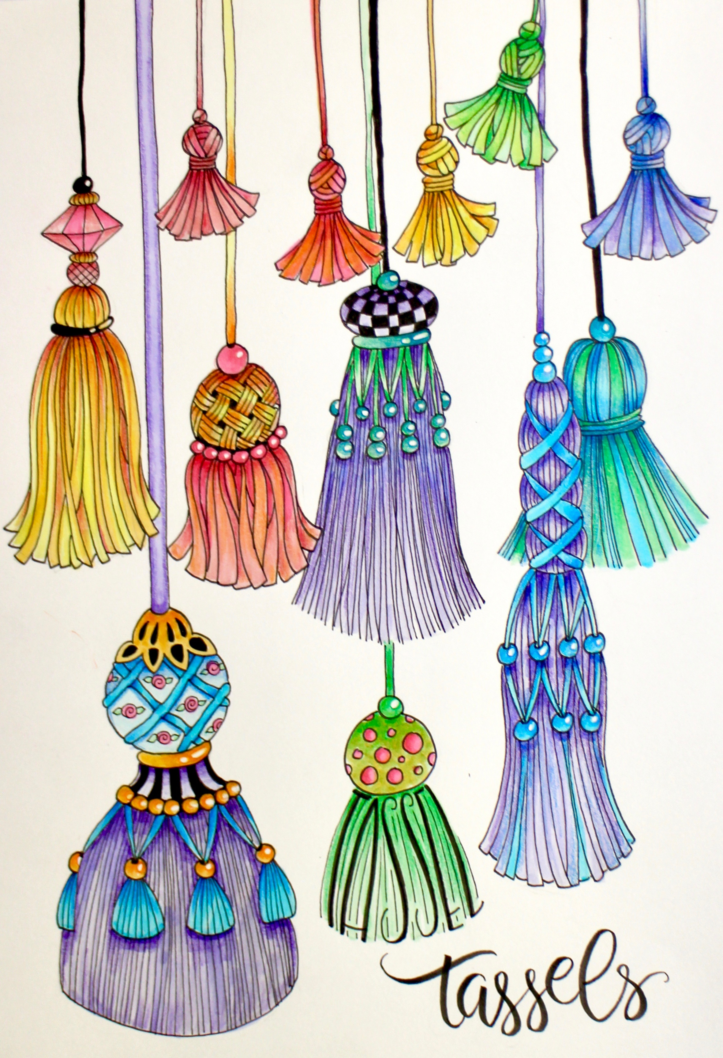 Shading with Irojitens Fringe and Tassels Marie Browning