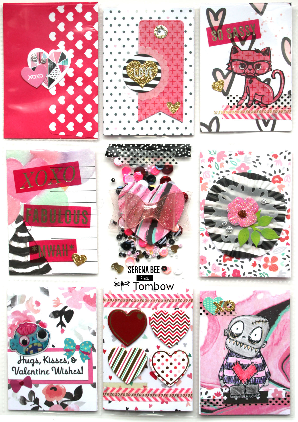 Valentines Day Pocket Letter Tutorial  Serena Bee  Tombow USA Blog