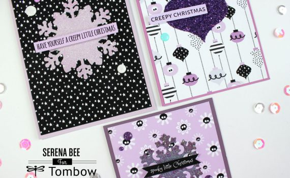 glitter holiday cards by serena bee
