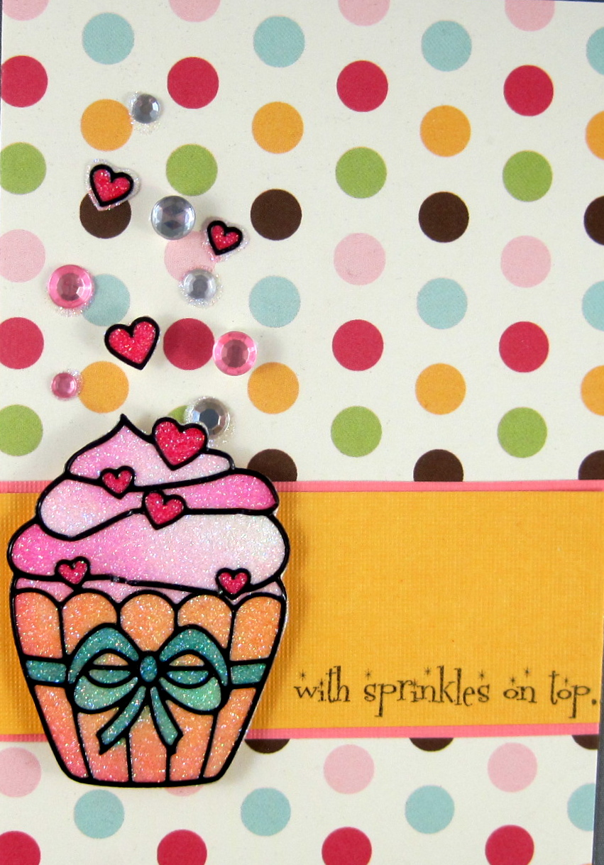 Glitter Cupcake Party Cards By Marie Browning Tombow Usa Blog