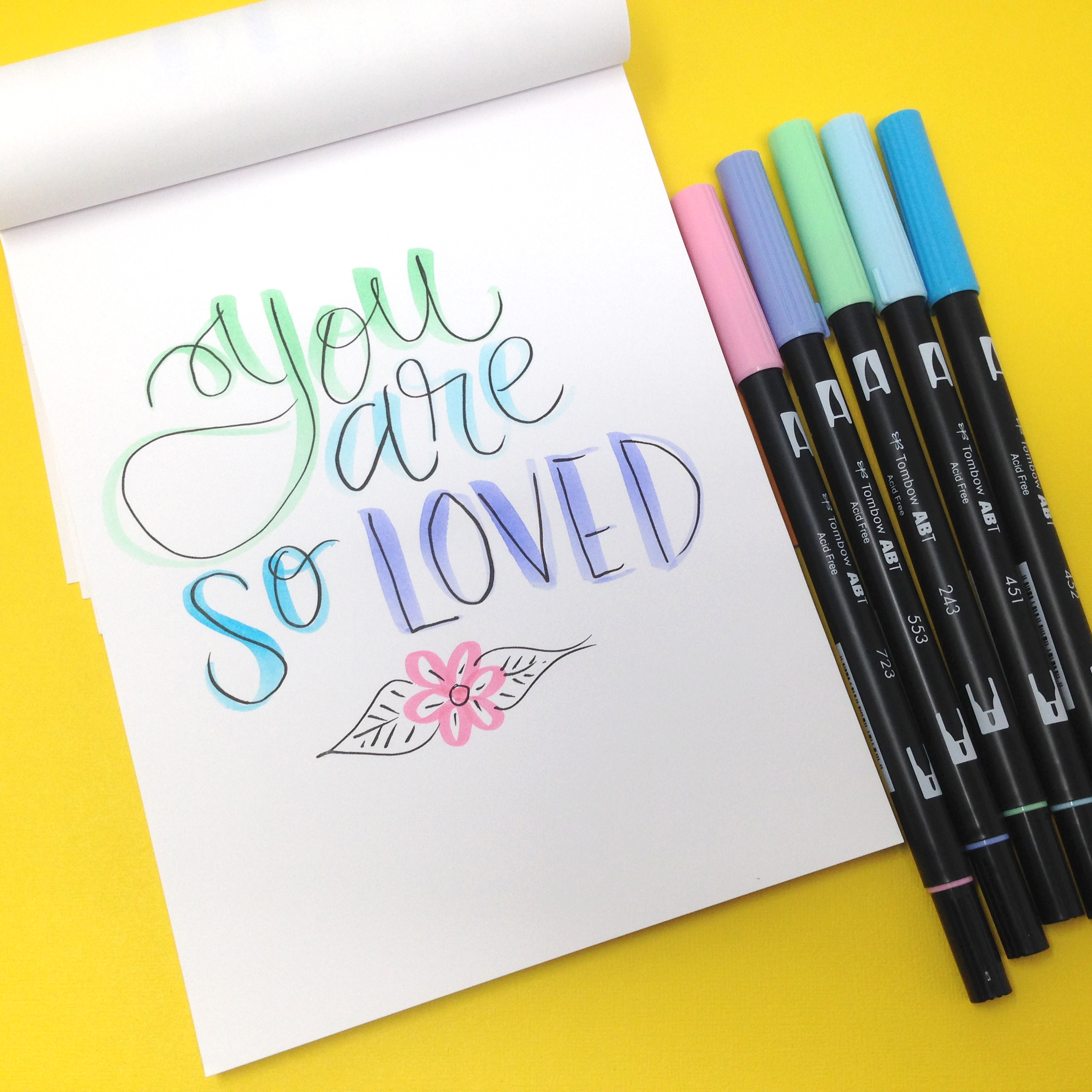 Lettering Tips Using The Pastel Dual Brush Pens