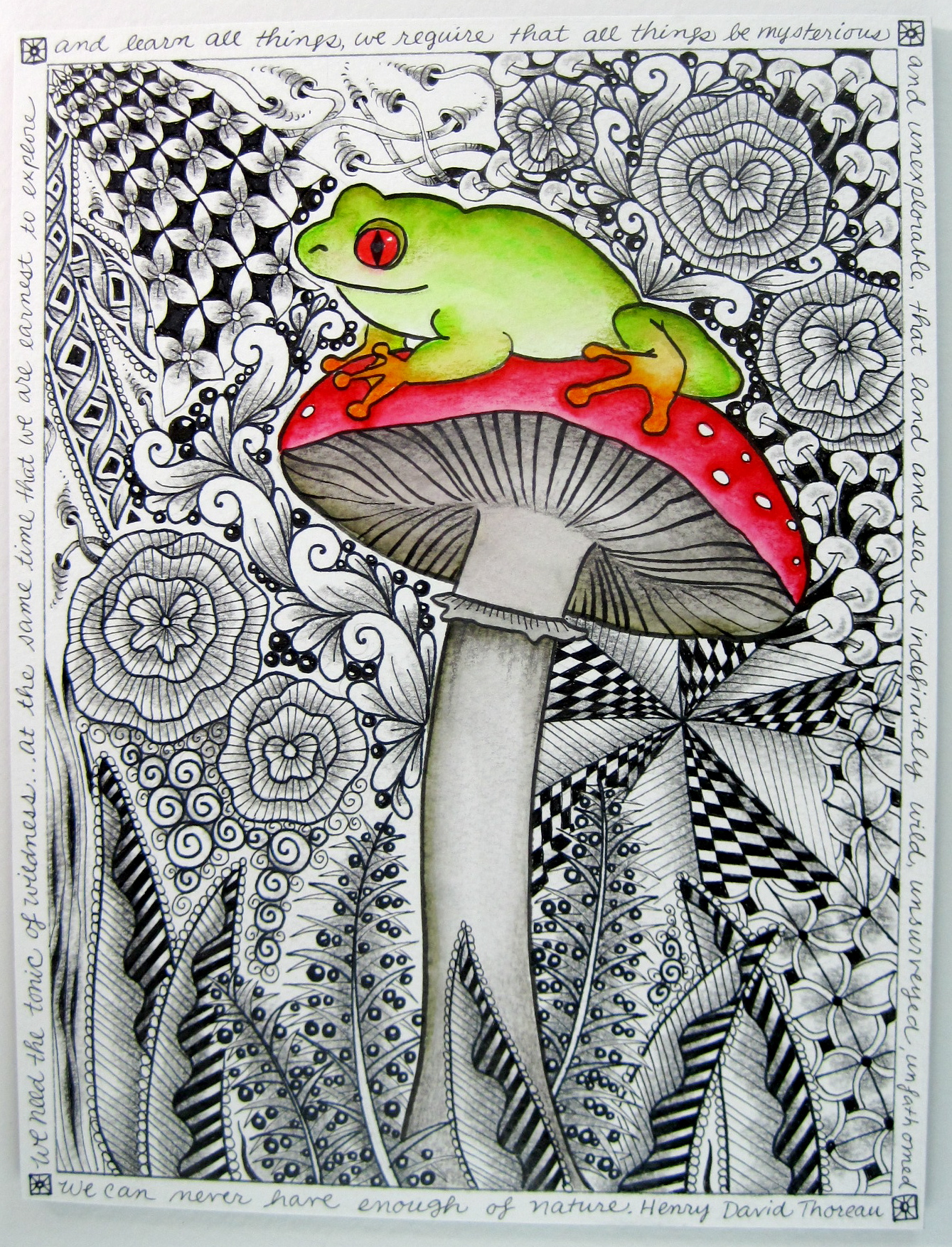 Frog And Mushroom ZIA By Marie Browning Tombow USA Blog