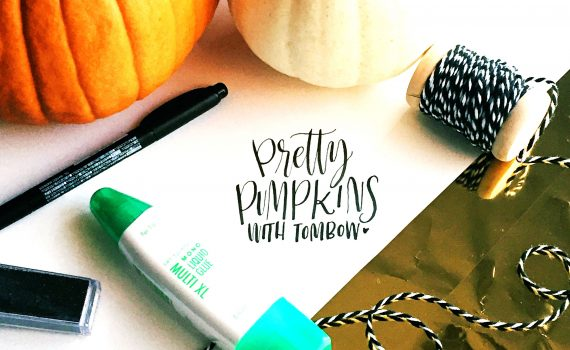 pretty pumpkins with tombow