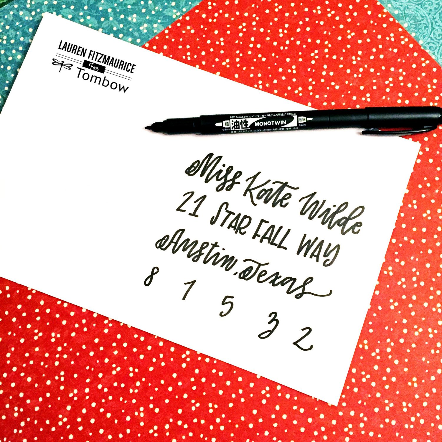 5 holiday envelope hacks by lauren fitzmaurice tombow usa blog holiday envelope hacks thecheapjerseys Gallery