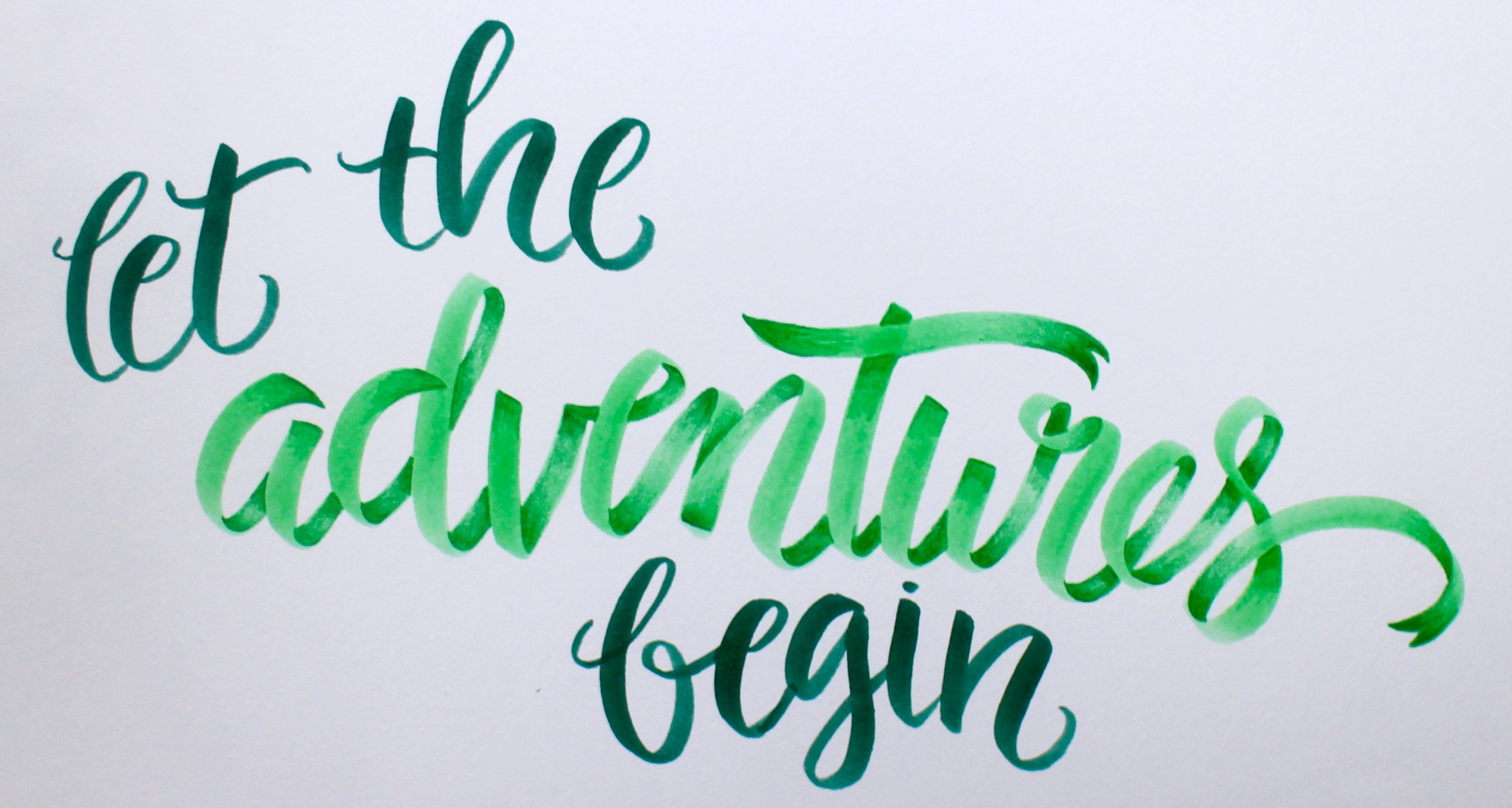 Ribbon lettering example 1