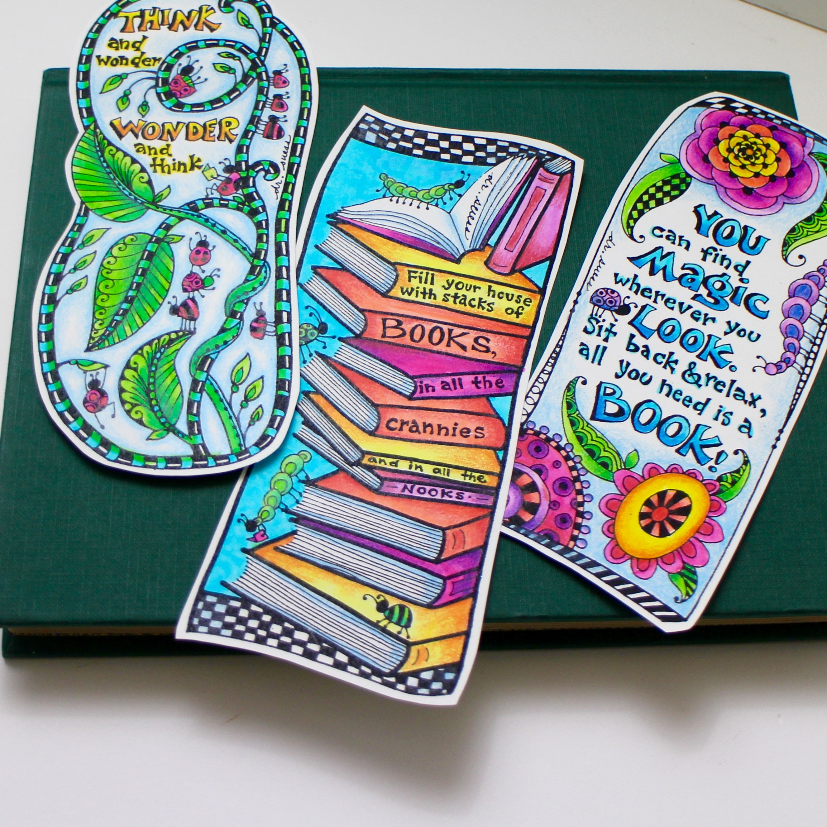photo relating to Dr Seuss Printable Bookmarks referred to as Absolutely free Dr. Seuss Impressed Coloring Bookmarks for Countrywide Read through