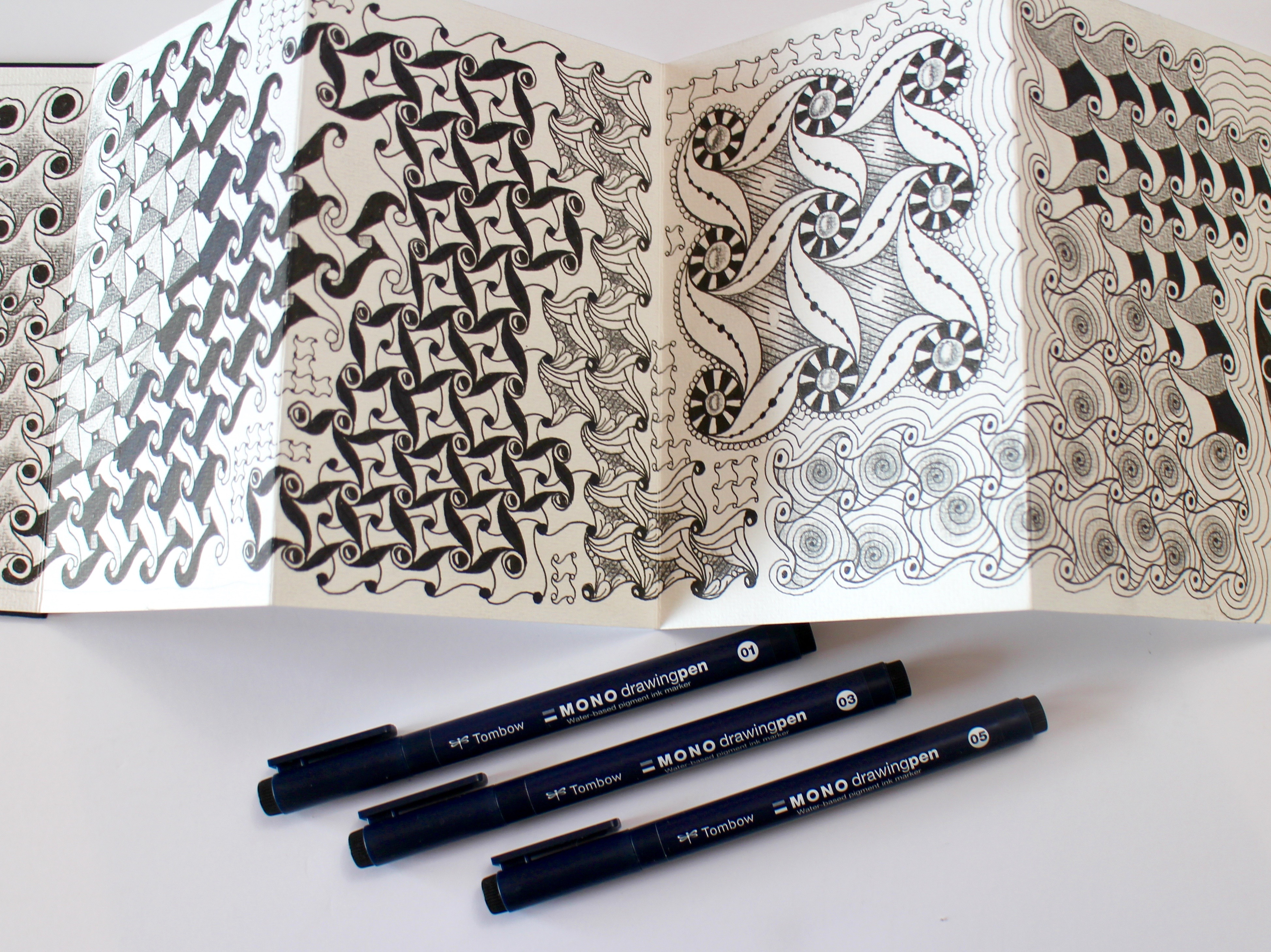 @mariebrowning New Drawing Pens from Tombow! Great for Zentangle Enthusiasts!