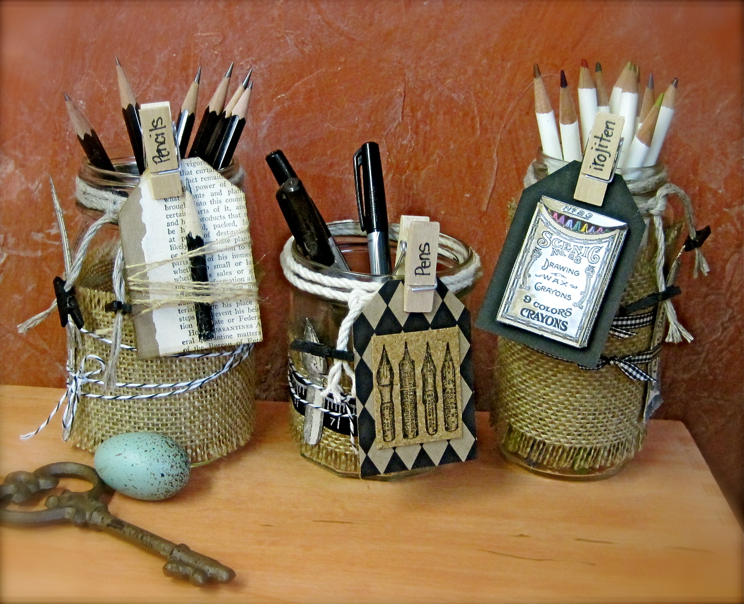 Canvas Corp Storage Jars By Marie Browning 16