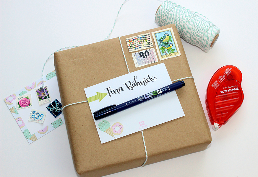Check out @jenniegarcian 's tips to make easy pretty happy mail. She also shared 25 ideas to put in your happy packages! #tombow #happymail #snailmail