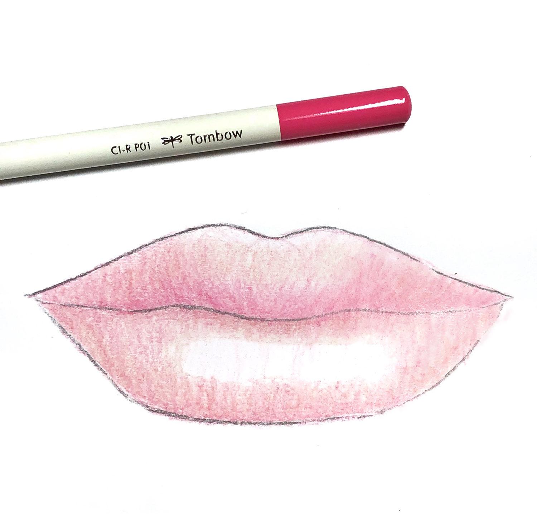 How To Draw Lips Using Irojiten Colored Pencils Tombow Usa Blog
