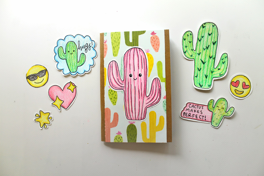 DIY! How To Make Your Own Cactus Emoji Stickers!