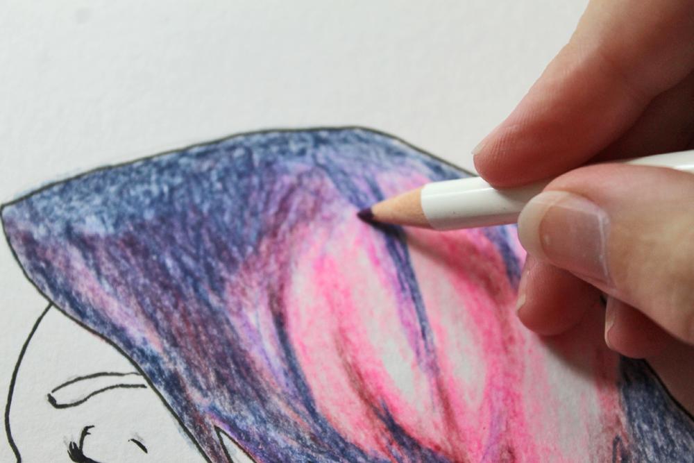 diy colored pencil galaxy tombow usa blog