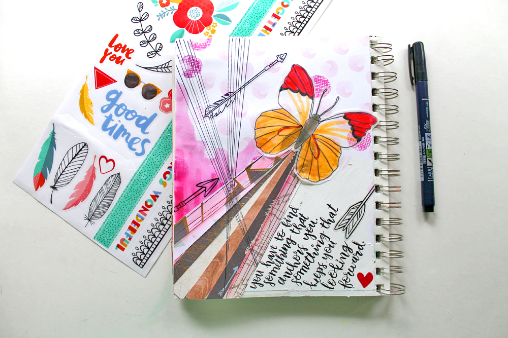 How To Art Journal With Scrapbook Supplies Tombow Usa Blog
