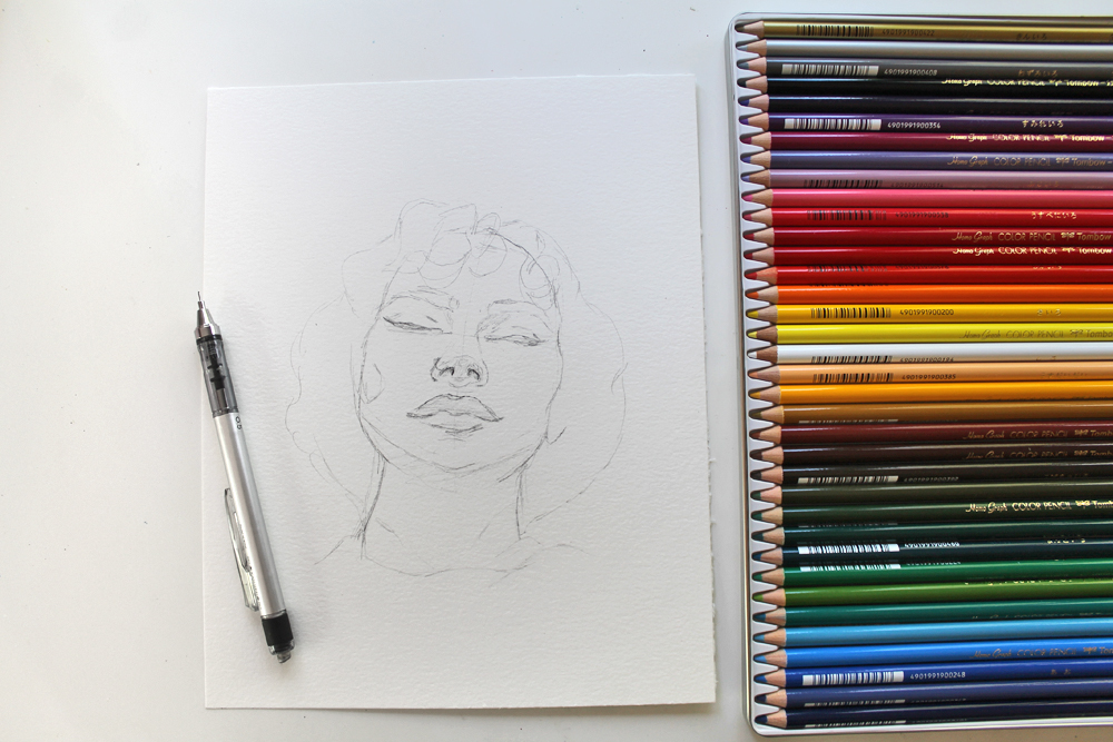 Mixed Media Sketching Using Colored Pencils - Tombow USA Blog