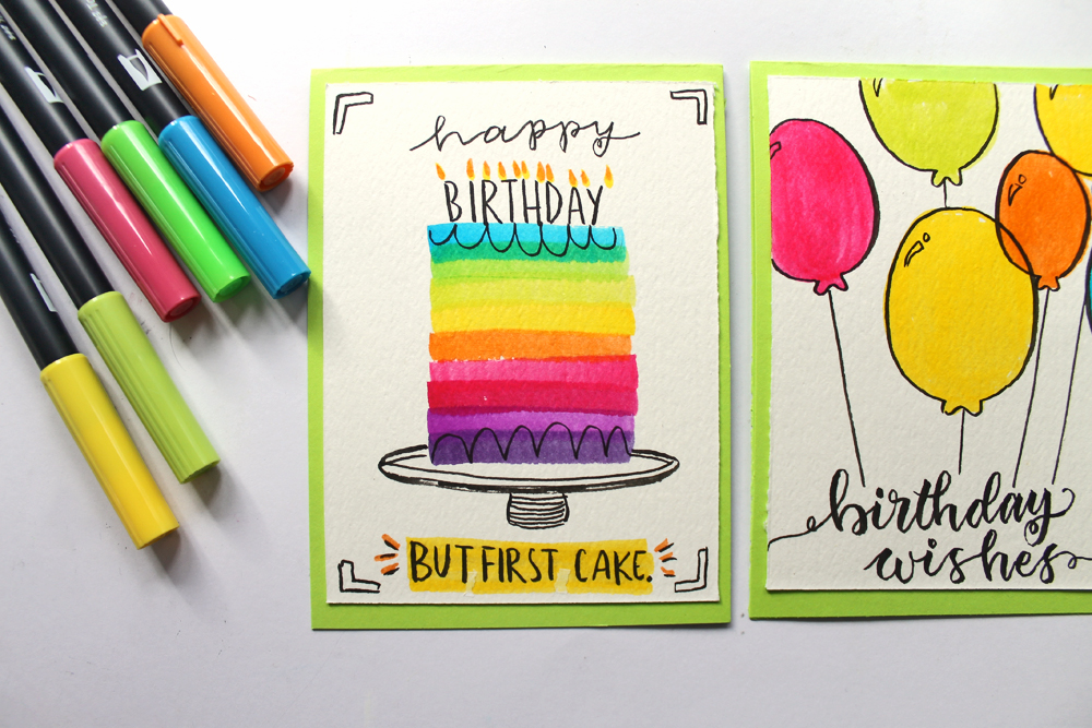 3 Birthday Cards You Can Make In Under 5 Minutes Tombow