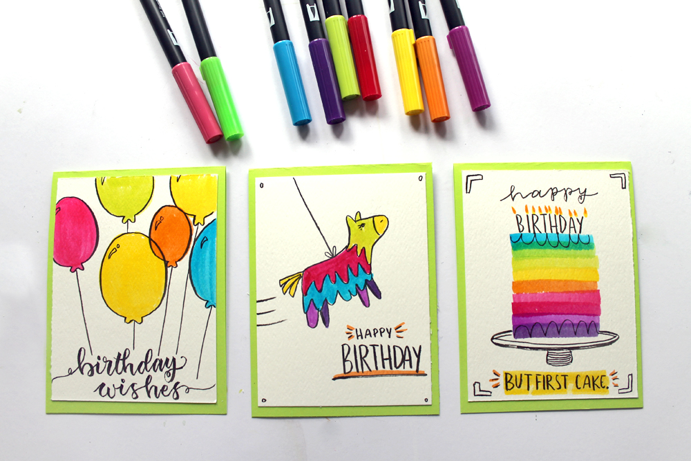 3 Birthday Cards You Can Make In Under 5 Minutes