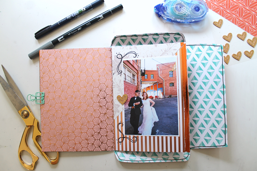 Learn how to make an all-in-one Envelope Scrapbook that you can mail! Tutorial by @punkprojects using @tombowusa products!