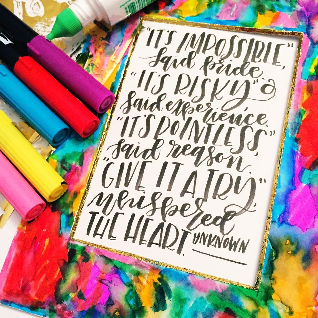 3 Rainbow Inspired Lettering Projects Tombow Usa Blog