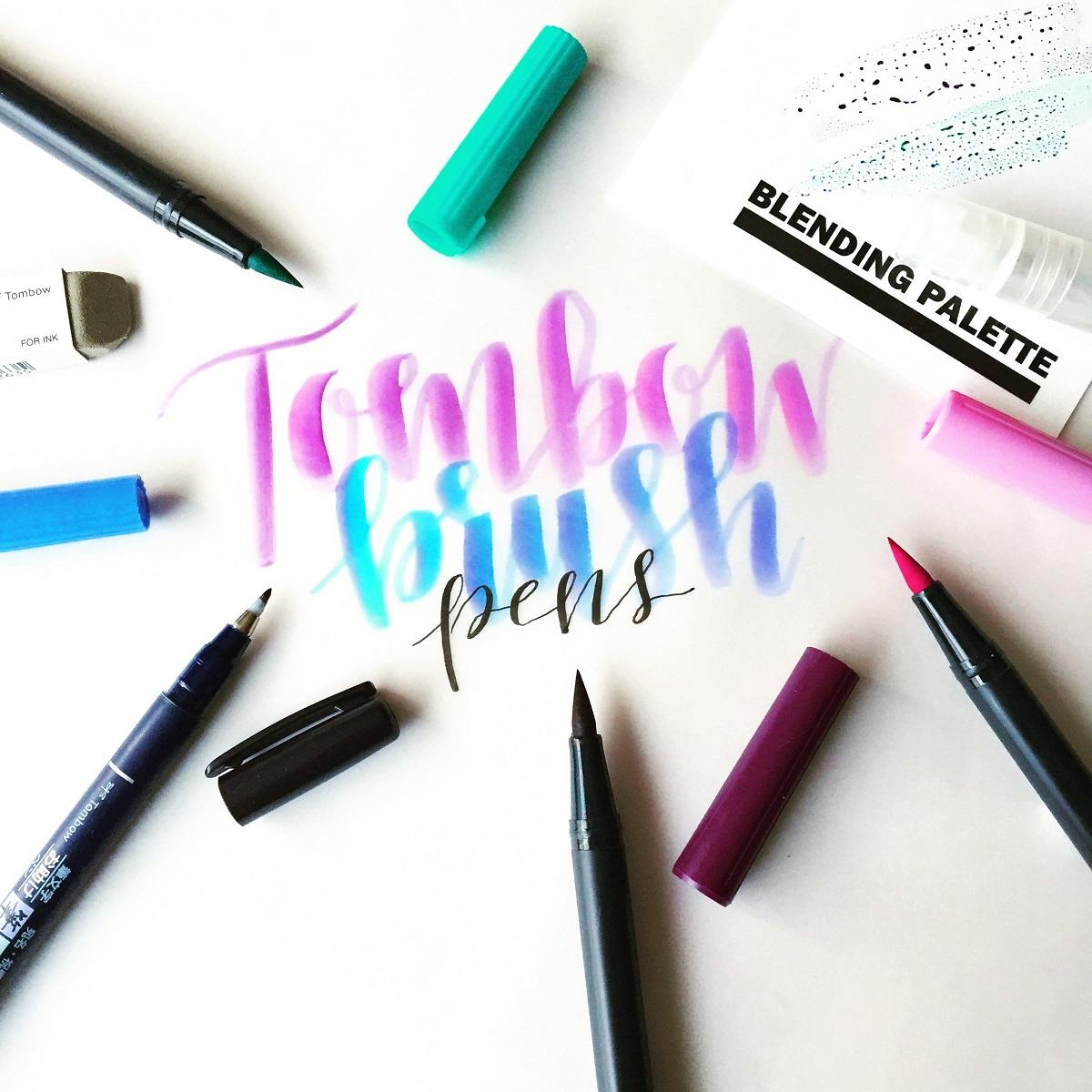 Lettering Week: Tombow like a Lefty with Lauren!  Lettering Week:...