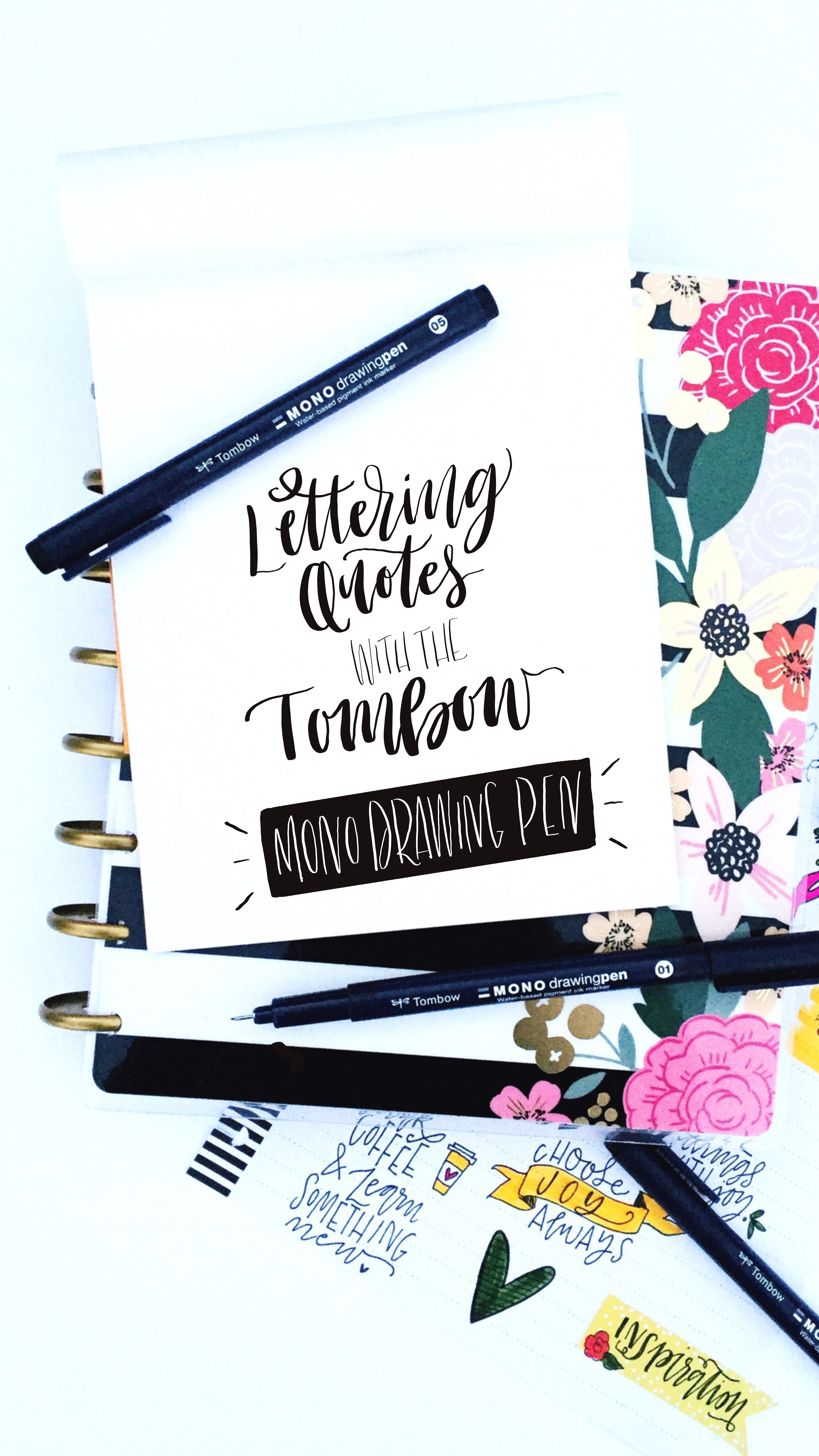lettering quotes the tombow mono drawing pen tombow usa blog
