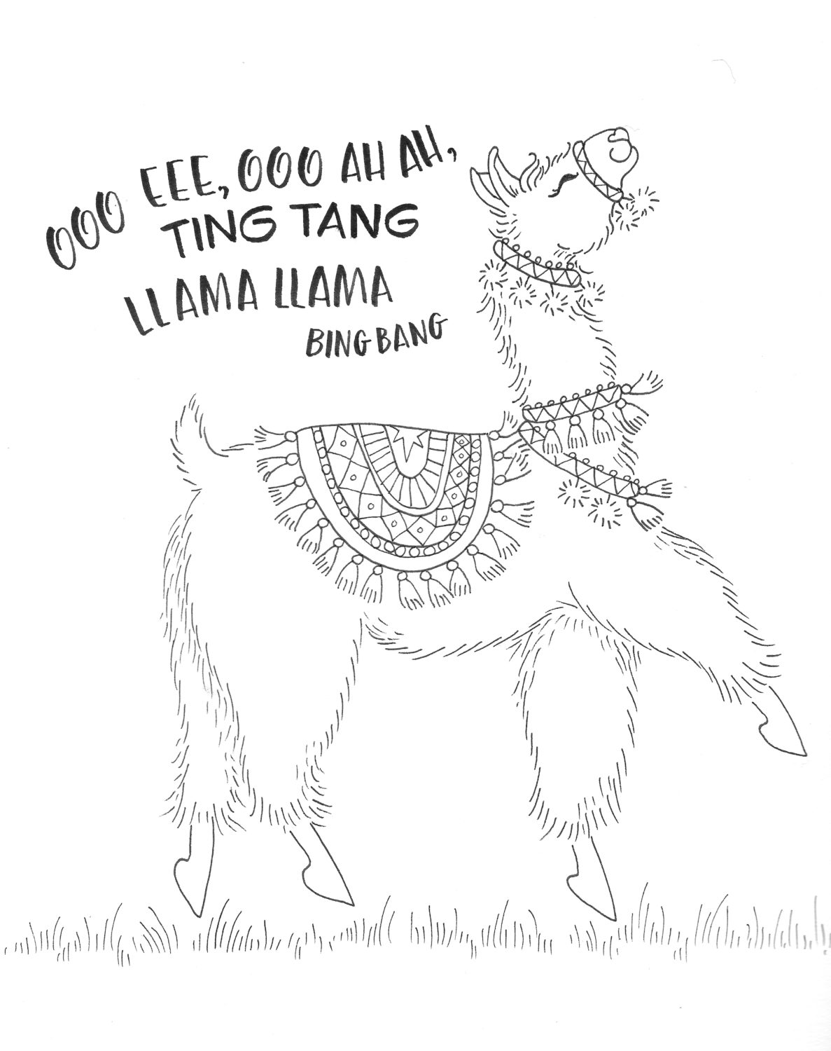 Coloring a Dancing Llama with New