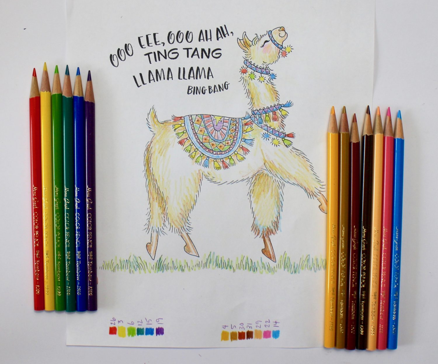 Coloring a Dancing Llama with New Colored Pencils - Tombow USA Blog