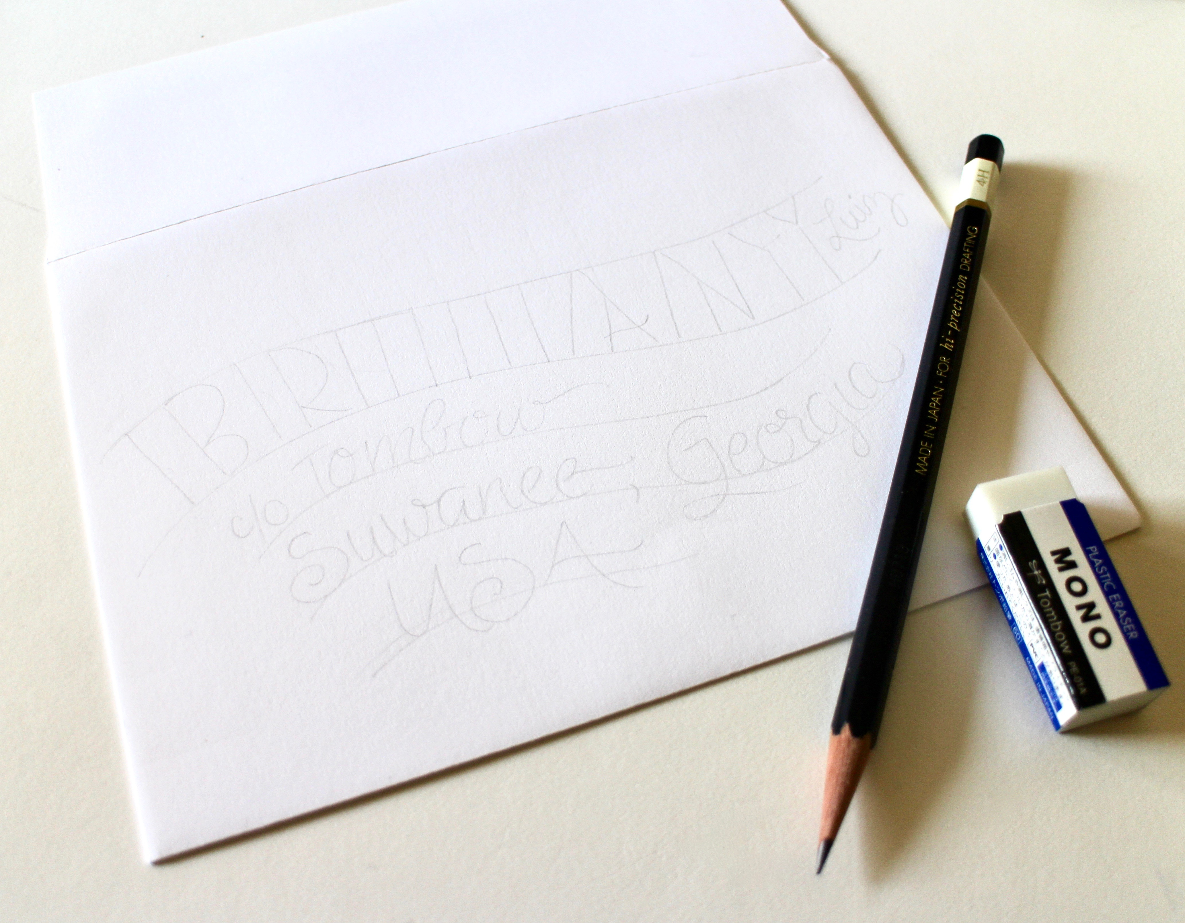 Plan your lettering