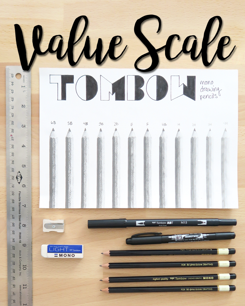 Value scale using tombow mono drawing pencils tombow usa blog