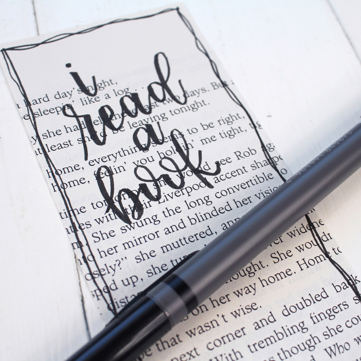 Then use the brush pen to letter your favorite quote.