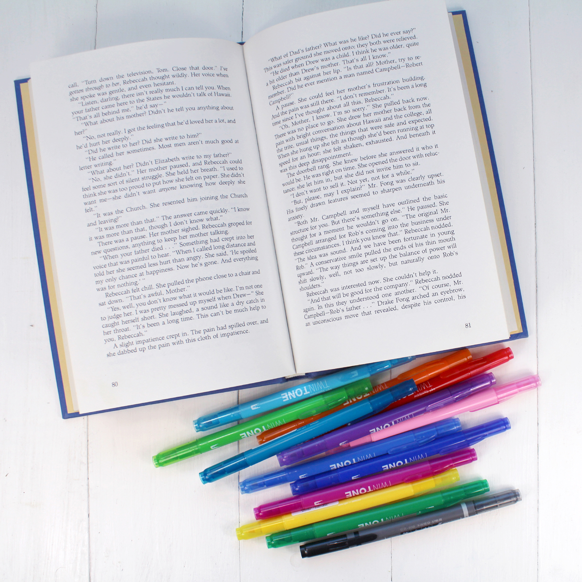 Supplies Needed for Book Page Bookmarks: