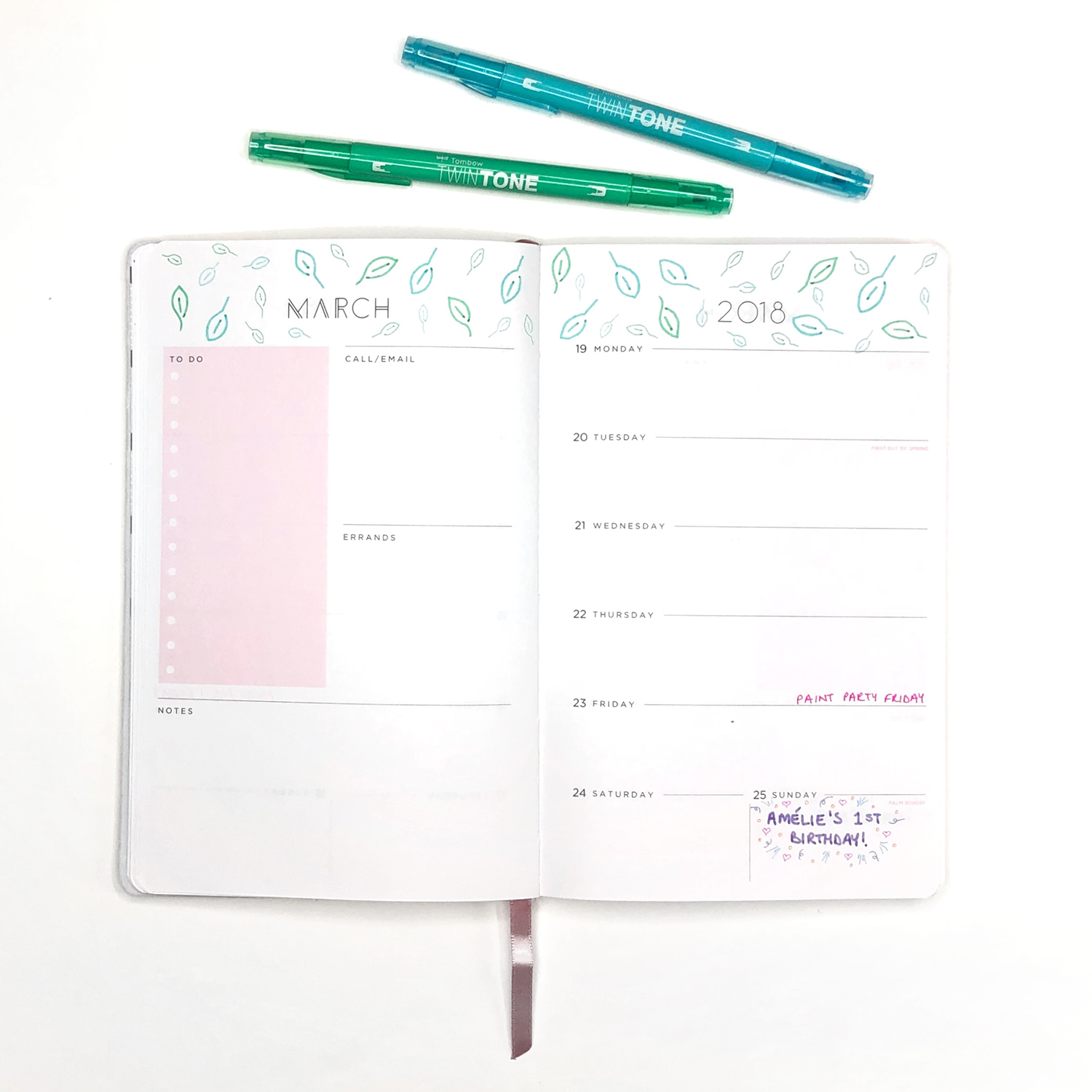 How to make pretty planner patterns with Tombow