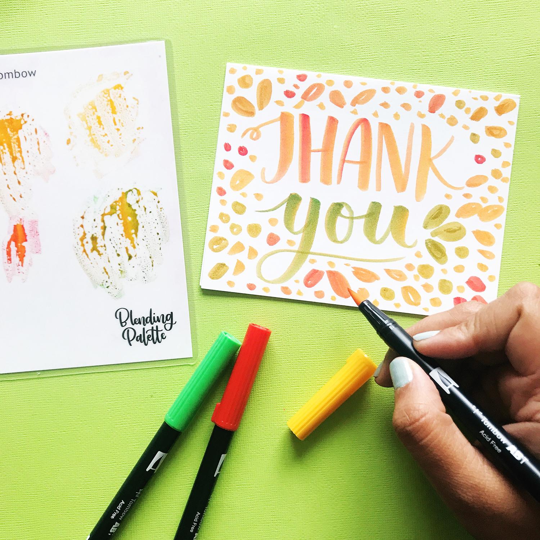 easy teacher appreciation card ideas  tombow usa blog